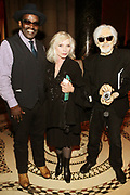 NEW YORK, NEW YORK-JUNE 4: (L-R) Visual Artist/Author/Filmmaker/Media Personality Fab 5 Freddy, Recording Artist Debbie Harry and Drummer Andy Stein  attend the 2019 Gordon Parks Foundation Awards Dinner and Auction Inside celebrating the Arts & Social Justice held at Cipriani 42nd Street on June 4, 2019 in New York City. (Photo by Terrence Jennings/terrencejennings.com)
