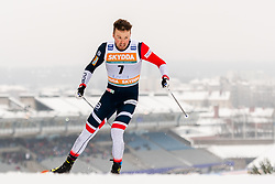 February 9, 2019 - Lahtis, FINLAND - 190209 Emil Iversen of Norway competes in the men's sprint qualification during the FIS Cross-Country World Cup on February 9, 2019 in Lahti..Photo: Johanna Lundberg / BILDBYRN / 135947 (Credit Image: © Johanna Lundberg/Bildbyran via ZUMA Press)