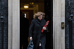 © Licensed to London News Pictures. 14/11/2017. London, UK. Secretary of State for International Development Penny Mordaunt leaves 10 Downing Street after the weekly Cabinet meeting. Photo credit: Rob Pinney/LNP