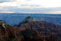 OCT 6, 2016: View on the canyons from the North Rim of the Grand Canyon as the sun begins to set in Arizona, Richey Miller/CSM(Credit Image: © Richey Miller/Cal Sport Media)