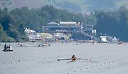 Linz, Austria, Sunday,  25th Aug 2019, FISA World Rowing Championship, Regatta,  CHN W2-, Bow Xinyu LIN, Rui JU,<br /><br />[Mandatory Credit; Peter SPURRIER/Intersport Images]<br /><br />10:26:56, Sunday