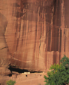 02490 Canyon de Chelley National Monument cliff dwellings spider rock canyon rock wall Navajo Reserv