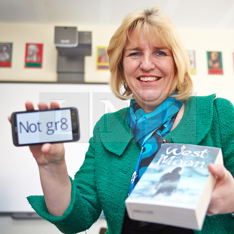 """© Licensed to London News Pictures.  24/03/2014. OXFORD, UK. Caroline Jordan (pictured), headmistress of the independent all girls Headington School in Oxford,  which charges up to £10,197 a term. In her latest school blog article she highlights the increasing use of text speak (e.g gr8 to mean great) in formal communications by students commenting """"our English skills are constantly on display, often making the difference between landing a job and having a misspelled application filed in the bin.""""<br /> <br /> Direct link to blog: http://bit.ly/1nWDDdo<br /> <br /> Photo credit: Cliff Hide/LNP"""