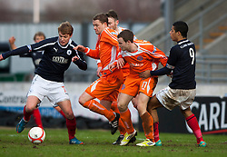 Falkirk's Jay Fulton and Falkirk's Lyle Taylor..Falkirk 4 v 1 Forfar Athletic, Scottish Cup fifth round tie, 2/2/2013. .©Michael Schofield.