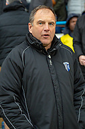 Gillingham FC manager Steve Lovell during the The FA Cup 3rd round match between Gillingham and Cardiff City at the MEMS Priestfield Stadium, Gillingham, England on 5 January 2019. Photo by Martin Cole.