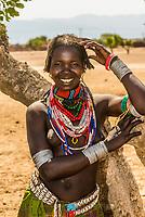 Arbore tribe woman, Omo Valley, Ethiopia.