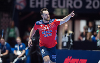 MEN'S EHF EURO 2020<br /> France-Norway 12 jan 2020<br /> Trondheim Spektrum<br /> Trondheim, Norway<br /> <br /> Christian O'Sullivan, Norge<br /> <br /> <br /> <br /> <br /> Foto : Arve Johnsen, Digitalsport