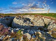 Ballowall Barrow prehistoric chambered tomb, Carn Gluze, Ballowall Common, near St Just in Cornwall, England,