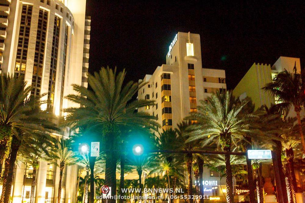 USA/Miami/20150808  - Miami South Beach bij nacht