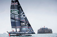 Image licensed to Lloyd Images. Free for editorial use. <br /> Pictures of Official Practice Day 24.07.15 - Land Rover BAR Racing Team skippered by Sir Ben Ainslie (GBR) <br /> Credit: Lloyd Images