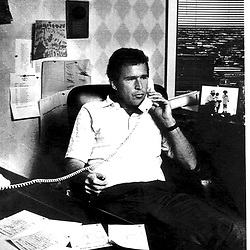Bush at his desk at Arbusto Energy, Midland, TX about late 1977  Photo:
