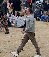 Simon Pegg at the Big Feastival 2021 on Alex James Cotswolds farm, Kingham oxfordshire pgoto by Michael Butterworth