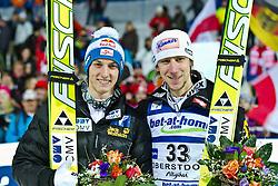 05.02.2011, Heini Klopfer Skiflugschanze, Oberstdorf, GER, FIS World Cup, Ski Jumping, Finale, im Bild 2. Platz Gregor Schlierenzauer (AUT) und der Gewinner Martin Koch (AUT)  , during ski jump at the ski jumping world cup in Oberstdorf, Germany on 05/02/2011, EXPA Pictures © 2011, PhotoCredit: EXPA/ P. Rinderer