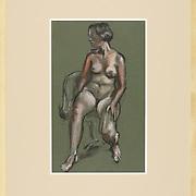 """Title: 30 Minute Pose<br /> Artist: Dennis Harper<br /> Date:<br /> Medium: Pastel<br /> Dimensions: 25 x 31""""<br /> Instructor:<br /> Status: On loan<br /> Location: HLC4000 Ceramics 2410.34"""
