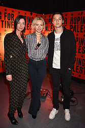 """Mary McCartney, Camilla Al Fayed and Arthur Donald at """"Hoping For Palestine"""" Benefit Concert For Palestinian Refugee Children held at The Roundhouse, Chalk Farm Road, England. 04 June 2018."""