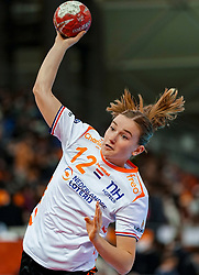 15-12-2019 JAP: Final Netherlands - Spain, Kumamoto<br /> The Netherlands beat Spain in the final and take historic gold in Park Dome at 24th IHF Women's Handball World Championship / Bo van Wetering #12 of Netherlands