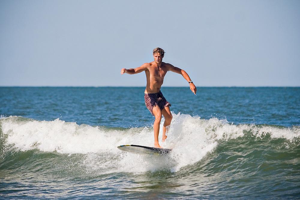 July 17, 2011; Virginia Beach, VA, USA; Wills Francis surfing. Mandatory Credit: Peter J. Casey