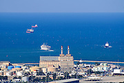 Israel, Haifa bay, View of the the power station. Haifa's industrial area is one of the largest sources of air pollution in Israel