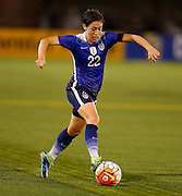 CHATTANOOGA, TN - AUGUST 19:  Defender Meghan Klingenberg #22 of the United States dribbles the ball during the friendly match against Costa Rica at Finley Stadium on August 19, 2015 in Chattanooga, Tennessee.  (Photo by Mike Zarrilli/Getty Images)