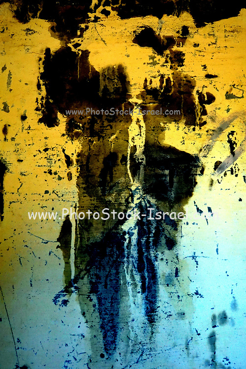 Yellow black and blue Abstract background