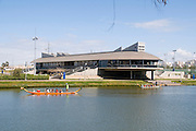 Israel, Tel Aviv, The Yarkon River. The rowing training center