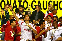Marcão comemora o título de Campeão Gaúcho 2008 . FOTO: Jefferson Bernardes/Preview.com