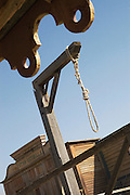 A noose on a film set for a Western, set in Texas, built near Malaga, Spain is now a tourist attraction
