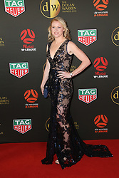 Players from the Westfield W-League and Hyundai A-League arrive on the red carpet for the 2018 Dolan Warren Awards at The Star Event Centre - 80 Pyrmont St, Pyrmont, NSW. 30 Apr 2018 Pictured: Clare Polkinghorne. Photo credit: Richard Milnes / MEGA TheMegaAgency.com +1 888 505 6342