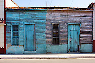 Weathered wooden houses in Cardenas, Matanzas, Cuba.