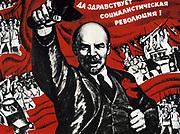 Russian Revolution, October 1917. Vladimir Ilyich Lenin (Ulyanov - 1870-1924)  Russian revolutionary. Undated Communist poster.