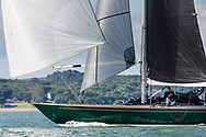 Oui Fling, skippered by Lord Laidlaw of Rothiemay competing in Cowes during the Panerai British Classic Sailing Week regatta. <br /> Picture date: Monday July 10, 2017.<br /> Photograph by Christopher Ison ©<br /> 07544044177<br /> chris@christopherison.com<br /> www.christopherison.com