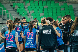 Players of RK Krim Mercator seen during handball match between RK Krim Mercator (SLO) and Vipers Kristiansand (NOR), on September 12, 2020 in Arena Stožice, Ljubljana, Slovenia. Photo by Sinisa Kanizaj / Sportida