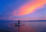 Man in Outrigger, GIli AIr , Indonesia