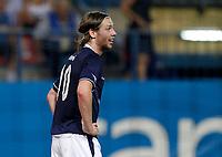 Stromsgodset's Jo Inge Berget dejected during UEFA Europa League third qualifying round match. July 28, 2011. (ALTERPHOTOS/Alvaro Hernandez)