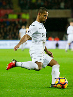 Football - 2016 / 2017 Premier League - Swansea City vs. Stoke City<br /> <br /> Wayne Routledge of Swansea crosses the ball—, at The Liberty Stadium.<br /> <br /> COLORSPORT/WINSTON BYNORTH