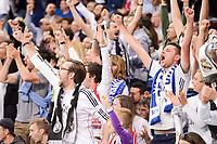 Real Madrid's crowd celebrating the victory during La Liga match between Real Madrid and Sevilla FC at Santiago Bernabeu Stadium in Madrid, May 14, 2017. Spain.<br /> (ALTERPHOTOS/BorjaB.Hojas)
