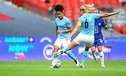 Steph Houghton of Manchester City Women clears the ball - Mandatory by-line: Nizaam Jones/JMP - 29/08/2020 - FOOTBALL - Wembley Stadium - London, England - Chelsea v Manchester City - FA Women's Community Shield
