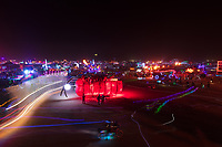 It's always a challenge to explain to someone what it's like being out on the playa at night.