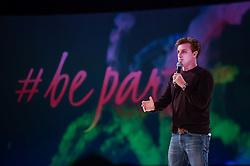 Luciano Huck durante o VOX - The Joy of Sharing, evento que  pretende provocar reflexões sobre o futuro da comunicação a partir do compartilhamento de conteúdo e experiências. FOTO: Vinícius Costa/ Agência Preview