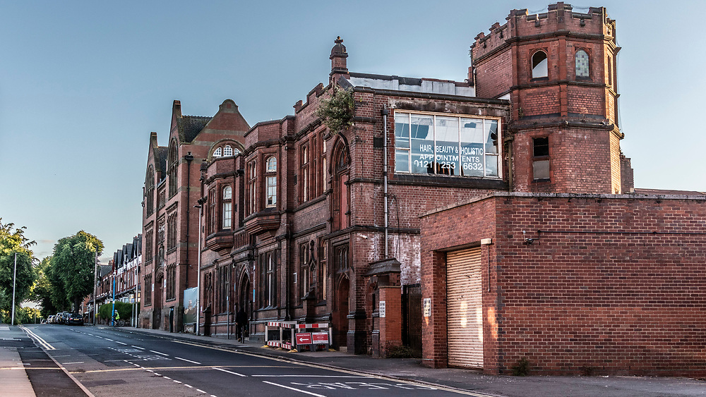 The old West Bromwich Grammar School, now Sandwell College, Hair and Beauty Holistic Centre, West Midlands, UK