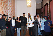 l to r: Terrence Jennings, Noelle Theard, Russell Frederick, Dreama Goldsmith, Akintola Haniff, Jamel Shabazz, Delphine Fawndu-Buford, Shawn Escoffery , Shantrell P.Lewis and Layla Barrayn at ' Shoot-Out: Lonely Crusade..An Homage to Jamel Shabazz ' held at The George and Leah McKenna African American Museum of Art on December 12, 2008 in New Orleans, Louisana