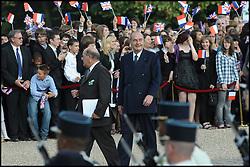 September 21, 2016 - Suresnes, France - JACQUES CHIRAC. CEREMONIE AU MONT VALERIEN DU 70 EME ANNIVERSAIRE DE L' APPEL LANCE PAR LE GENERAL DE GAULLE LE 18 JUIN 1940 , EN PRESENCE DE NICOLAS SARKOZY ' PRESIDENT DE LA REPUBLIQUE FRANCAISE ' ET DES MEMBRES DU GOUVERNEMENT. (Credit Image: © Visual via ZUMA Press)