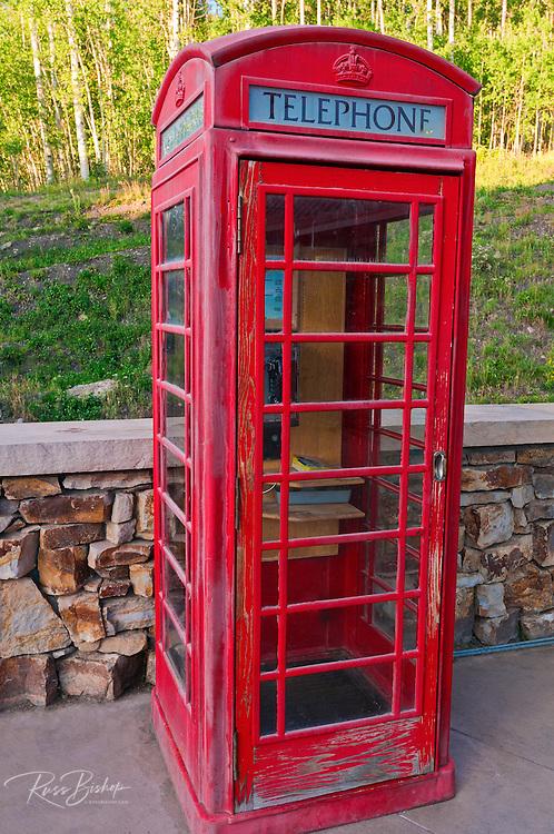 English phone booth, Telluride, Colorado