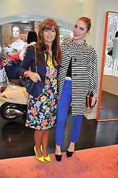 Left to right, DEBORAH LLOYD and ANGELA SCANLON at the Kate Spade NY hosted Chelsea Flower Show Tea Party held at Kate Spade, 2 Symons Street, London on 23rd May 2013.