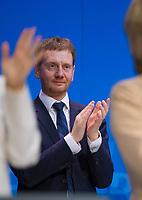 DEU, Deutschland, Germany, Berlin,26.02.2018: Sachsens Ministerpräsident Michael Kretschmer (CDU) beim Parteitag der CDU in der Station. Die Delegierten stimmten mit großer Mehrheit für die Neuauflage der Großen Koalition (GroKo).