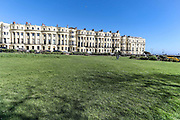 April 6, 2020, London, England, United Kingdom: General view of a quiet Brighton park beside the beach at midday in Brighton, East Sussex, as the country is in lockdown to help curb the spread of the coronavirus, Monday, April 6, 2020. (Credit Image: © Vedat Xhymshiti/ZUMA Wire)