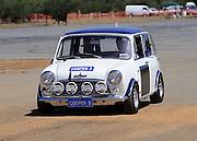 White, original Mini Coooper S at the Caversham Historic Motoring Fair. Caversham, Perth, Western Australia.<br /> Sunday, 15th November 2009