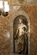 Classic Greek statue in the interior of Palacio de Gaviria (Gaviria Palace) in calle arenal, madrid, spain