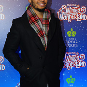 London, England, UK. 16th November 2017. Aston Merrigold attend the VIP launch of Hyde Park Winter Wonderland 2017 for a preview. tomorrow is opening for the public