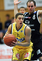 Basketball <br /> BLNO<br /> Asker Aliens v Kristiansand Pirates<br /> Vollenhallen<br /> <br /> 12.12.2004<br /> Foto: Morten Olsen, Digitalsport<br /> <br /> Hani Issalhi - Aliens<br /> Sigurd Ibsen - Pirates
